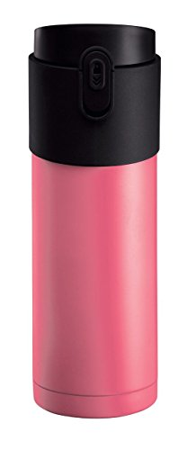 PO: 11-Ounce Vacuum Insulated Stainless Steel Travel Coffee Mug - BPA Free - Slim Travel Size Fits Car Holder - Tea and Coffee Infuser (Raspberry Pink) (Slim Tea Infuser)