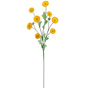 "29"" Silk Aster Daisy Flower Spray -Yellow (Pack of 12) 28"