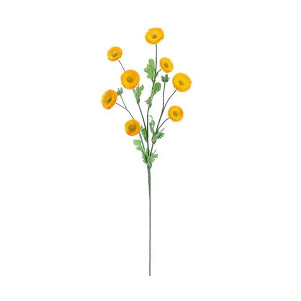 29″ Silk Aster Daisy Flower Spray -Yellow (Pack of 12)