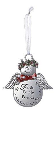 Christmas Snowmen Ornaments - Faith Family Friends by Ganz