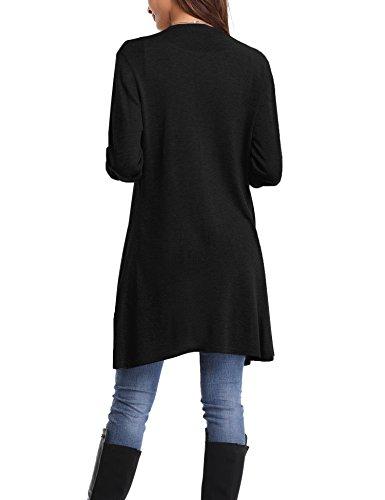 Long Longues Manches L Gilet Femme Cardigan Femme Abollria FxnzBSq1az
