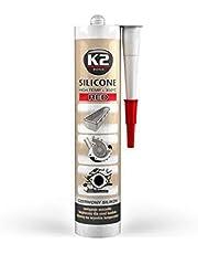 K2- Hoge temperatuur siliconen, afdichtmiddel, dicht si-likeon, bestand tegen hoge temperaturen tot + 350 °C, rood, 300 g