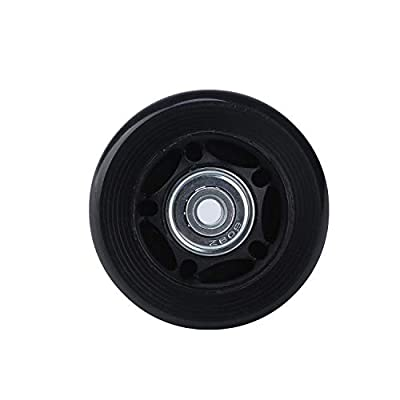 WaiTing Luggage Suitcase Replacement Wheels, Mute Load Bearing Rubber Swivel Caster Wheels Bearings Repair Kits Skate Inline Scooters Outdoor Replacement Wheels Wear Resistant with Multiple Sizes : Sports & Outdoors