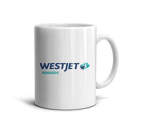 (CXBZFBHNUBFVC WestJet Rewards Airline Symbol Logo White Simple Co-Workers Ceramic Mug Lovers 11 oz Height 9.5cm Gifts)