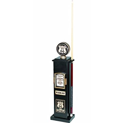 Image of Billiards & Pool RAM Gameroom Products 40-Inch Route 66 Texaco Gas Pump CD and 6 Cue Holder