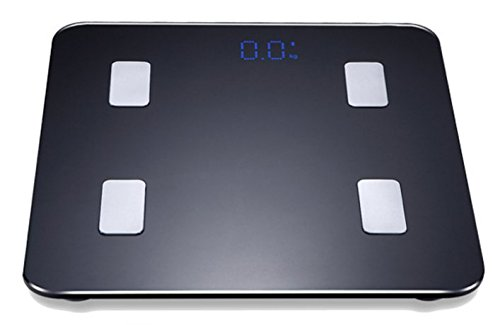 Body fat for Heart Health & Body Composition Wi-Fi Scale, black
