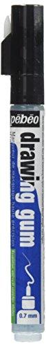 Pebeo Drawing Gum Marker Nib, Rubber, White, 1.5 x 1.5 x 14.3 cm