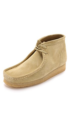 CLARKS Men's Wallabee Boot, Maple Suede, 11 D - Medium