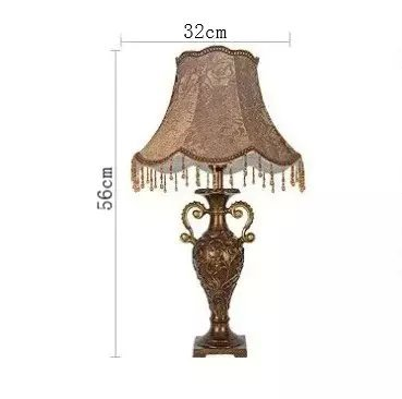 Royal-European vintage lace cozy bedroom lamp of luxury living room bedside lamp Nordic by Table lamp 208 (Image #5)