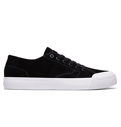 DC Men's Evan LO Zero S Skate Sneakers, Black, Suede, Rubber, 12 D
