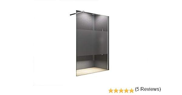 120 x 200 cm mampara de Lily Frost - centro, vidrio esmerilado, vidrio transparente, ducha, Walk-in shower, 10 mm de vidrio templado de cristal de seguridad: Amazon.es: Bricolaje y herramientas