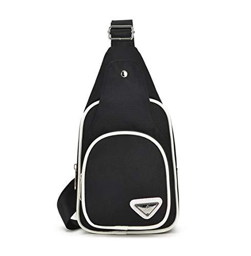 Spalla Multifunzione Bag Unicolor Nero Borsa Ciclismo Casual Semplice Monospalla Petto Uomo Il Impermeabile Viaggio Per Skitor Mini Moda Sport Nylon Zaino Tracolla A Sling Sx5qffnCT