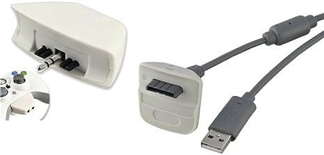 USB Carga Cable+Auricular Headset Adaptador Para XBOX 360 Xbox360 Mando Control: Amazon.es: Videojuegos