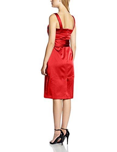 Squash Red Hot Abito Rosso Obi Belt donna cocktail Silky da 4ZZq1nvW