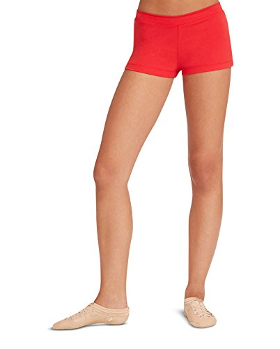 Capezio Women's Low Rise Boy Cut Short, Red, Medium - Childrens Tap Dance Costumes