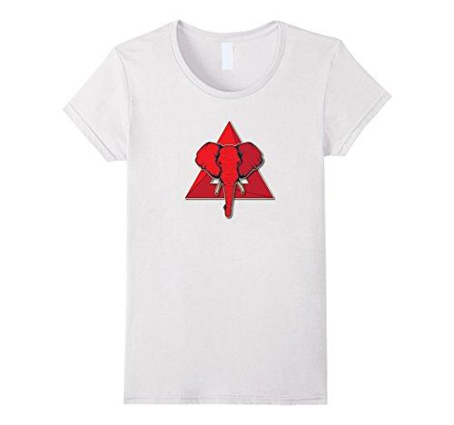 Womens Elephant Delta Triangle Sigma Red Theta T-Shirt Small (Delta Elephant)