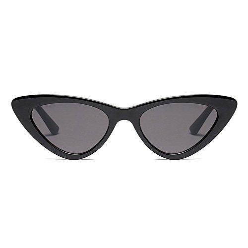 de oscuro Vintage gris de Sunglasses sol Gafas Sol Mod de Moda de Mujer Eye Cat Gafas Retro gxdqHwd
