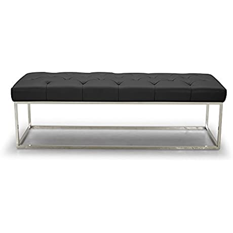 J And M Furniture 18278 Chelsea Luyx Bench In Black