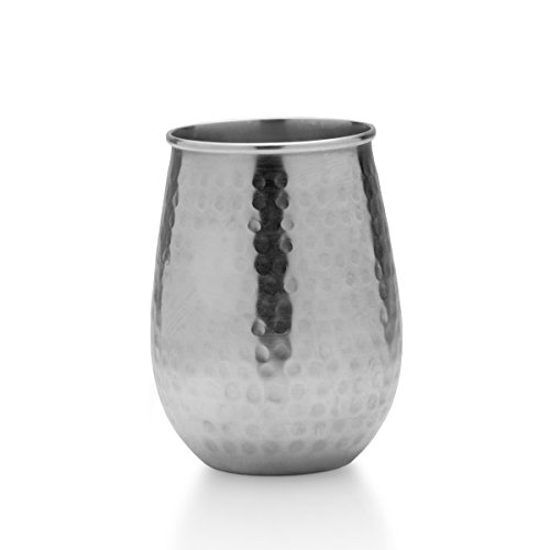 Mikasa Silver-Plated Hammered Stemless Goblet, 18-Ounce