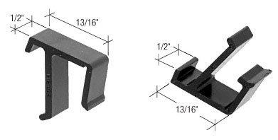 C.R. LAURENCE L5684 CRL Black Sliding Window Screen Clips for Nordic - Carded