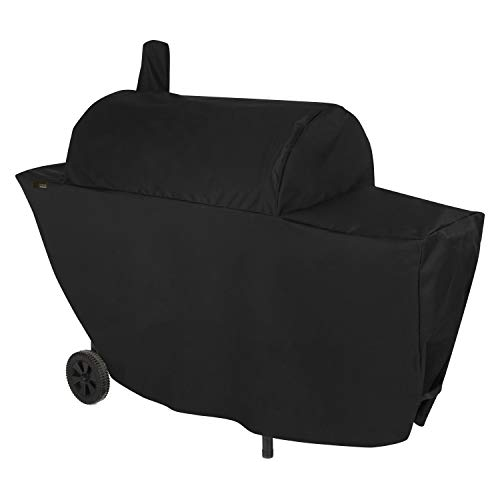 Modern Leisure 2981 Chalet Chimney Smoker BBQ Charcoal Grill Cover (67 L x 26 D x 50 H inches) Water-Resistant, Black