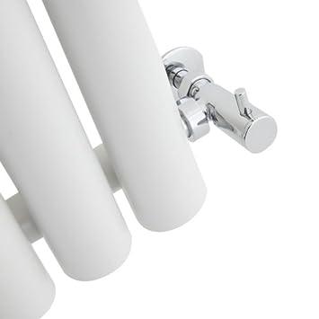 Design a Colonna Hudson Reed Savy Radiatore Termoarredo di Design Verticale Moderno 959W Riscaldamento ad Acqua Calda Termosifone con Finitura Bianca 1600 x 354mm