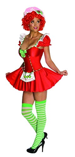 Secret Wishes Womens Strawberry Shortcake Costume, Strawberry, -
