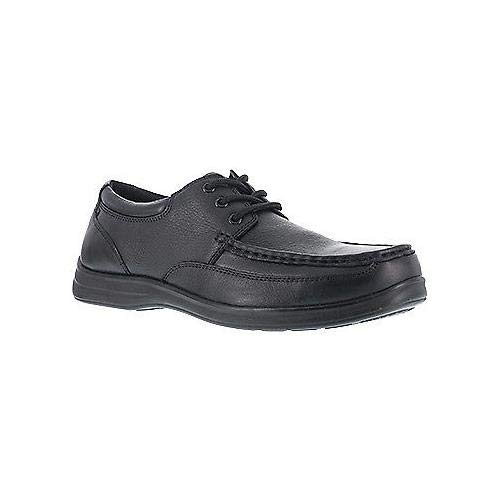Florsheim Womens Black Leather Oxford Shoes Wily Moc Laceup Steel Toe 12 D