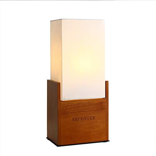 Wood Bedside Table Lamps for Bedroom, Modern Desk Lamp, 15