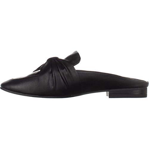 (Indigo Rd. Womens Maggie Leather Square Toe Mules, Black, Size 9.0)