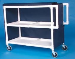 IPU LC242 Jumbo Linen Cart - Two Shelves ()