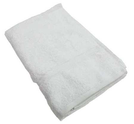 Fitness Towel, 11x44 In, White, PK12