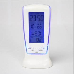 Vktech New Digital LCD Alarm LED clock calendar thermometer