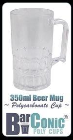 Polycarbonate Beer Mug (350ml Barconic® Polycarbonate Beer Mug)