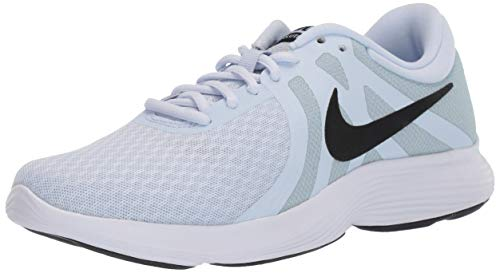 Nike Women's Revolution 4 Running Shoe, Half Blue/Black - Wolf Grey - White, 10.5 Regular US