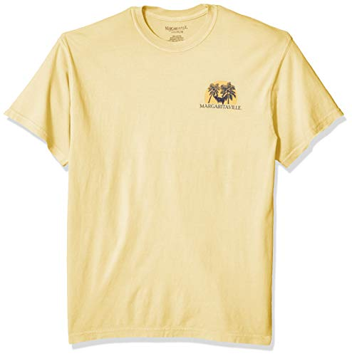 Margaritaville Men's Passed Out Hammock Graphic Short Sleeve T-Shirt, Butter, 3X-Large ()