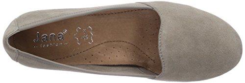 Jana 22205 - zapatos de tacón cerrados de cuero mujer gris - Grau (GREY SUEDE)
