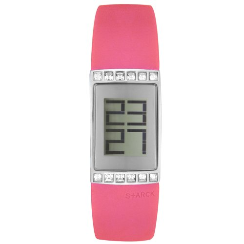 (Fossil Women's PH1104 Philippe S+arck Rumeur Pink Rubber Watch)