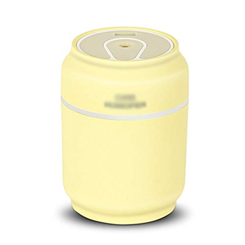 B.YDCM Air Humidifier - Cans Multi-Purpose Humidifier Home Creative Mini USB Humidifier Ultrasonic Air Atomizer Simple Fashion - Vaporizer 5482 (Color : Yellow)