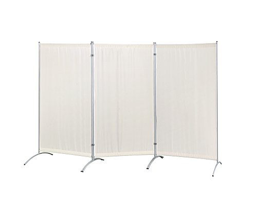 Proman Products FS17062 Galaxy Indoor Room Divider (3-Panel), 102 W x 23 D x 71 H, Beige