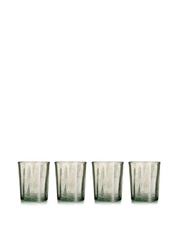 Fifth Avenue Riley Glass Old Fashions (Set of 4), Clear by Elizabeth Arden