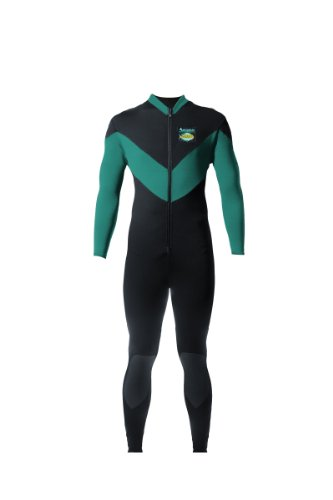 Aeroskin Full Body Suit Spine/Kidney with Kevlar Knee Pads (Black/Teal, XX-Large)