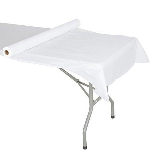 (Atlantis Plastics 2TCW300C White Plastic Roll Table Cover - 300' Roll)