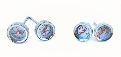 (STEAK & POULTRY BUTTON THERMOMETERS ● SET of 4)