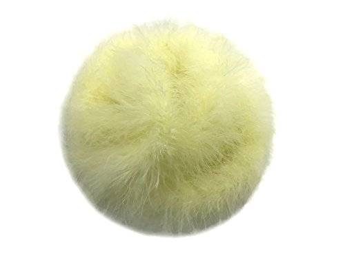 Moonlight Feather   2 Yards - Pale Yellow Turkey Medium Weight Marabou Feather Boa, 25 grams for Halloween, Costume, Party and -