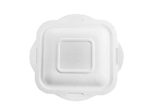 Vegware V4-GLB Gourmet Lid, Size 4, Bagasse (Pack of 600)