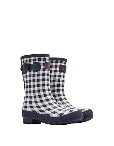 Mollywelly Navy Mujer Joules Botas Gingham Rose UA8W4POS