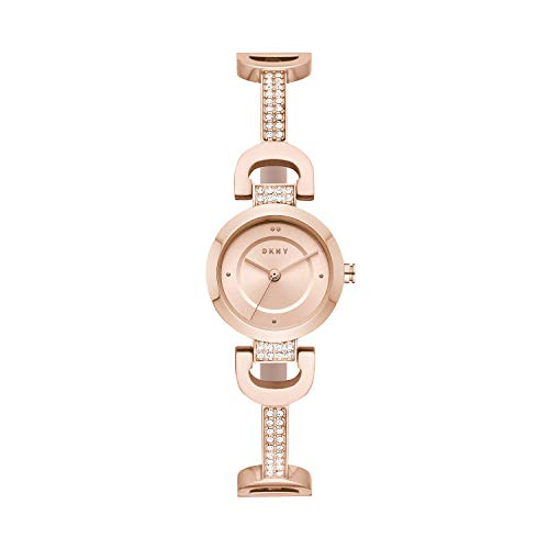 DKNY Women's City Link Quartz Watch with Stainless-Steel-Plated Strap, Rose Gold, 5 (Model: NY2752)