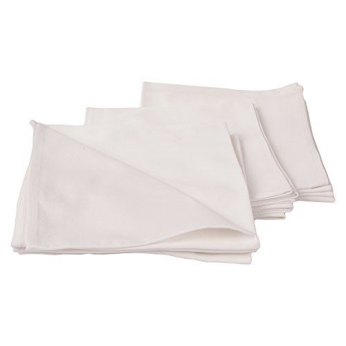 LinenMe X12 Plain Cotton Napkins 18 x 18 White [並行輸入品]   B079VNPX2Y