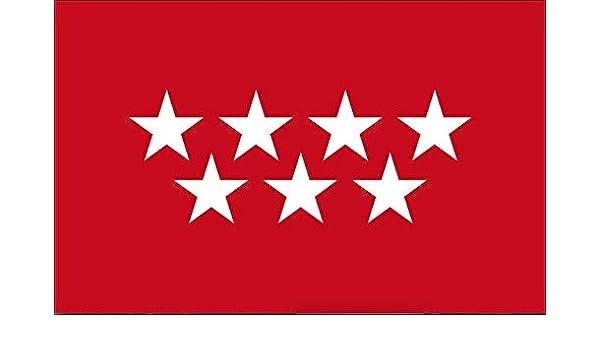Gemelolandia Bandera de La Comunidad de Madrid 90x150cm: Amazon.es: Ropa y accesorios